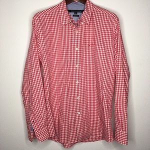 Tommy Hilfiger Red/White Classic Fit Button Down L